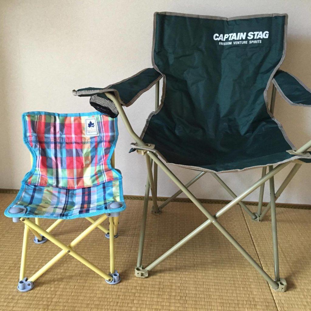 キャンプ用の椅子の写真