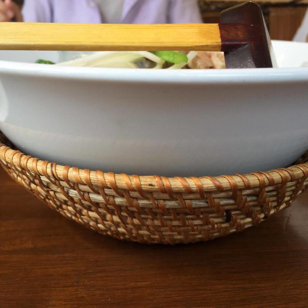 ビーフン麺を横からみたところ