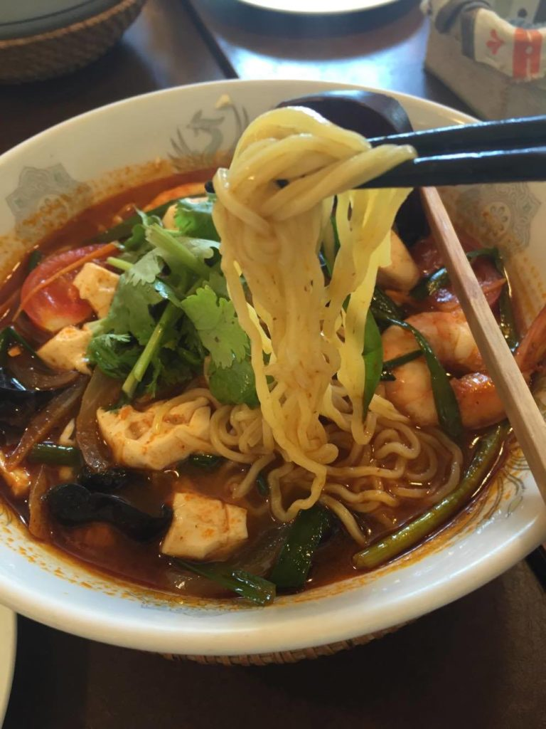トムヤム麺の写真