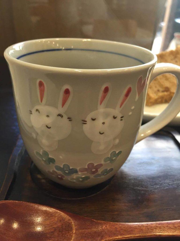 うさぎのマグカップの写真