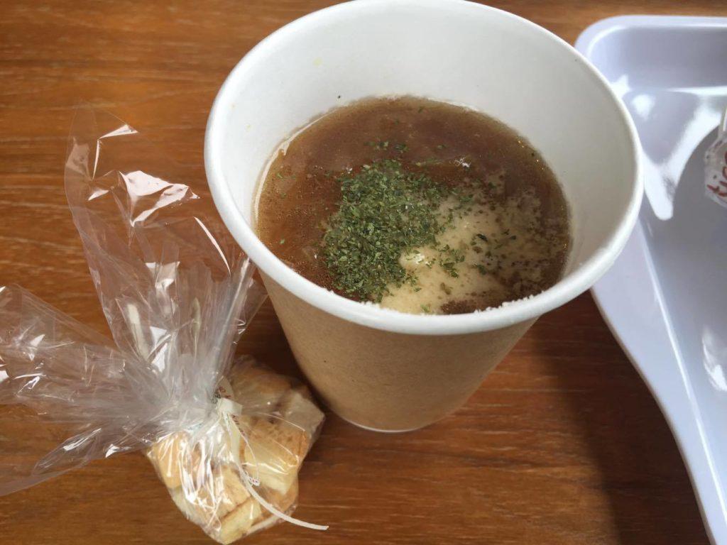単品で追加した日替わりスープ