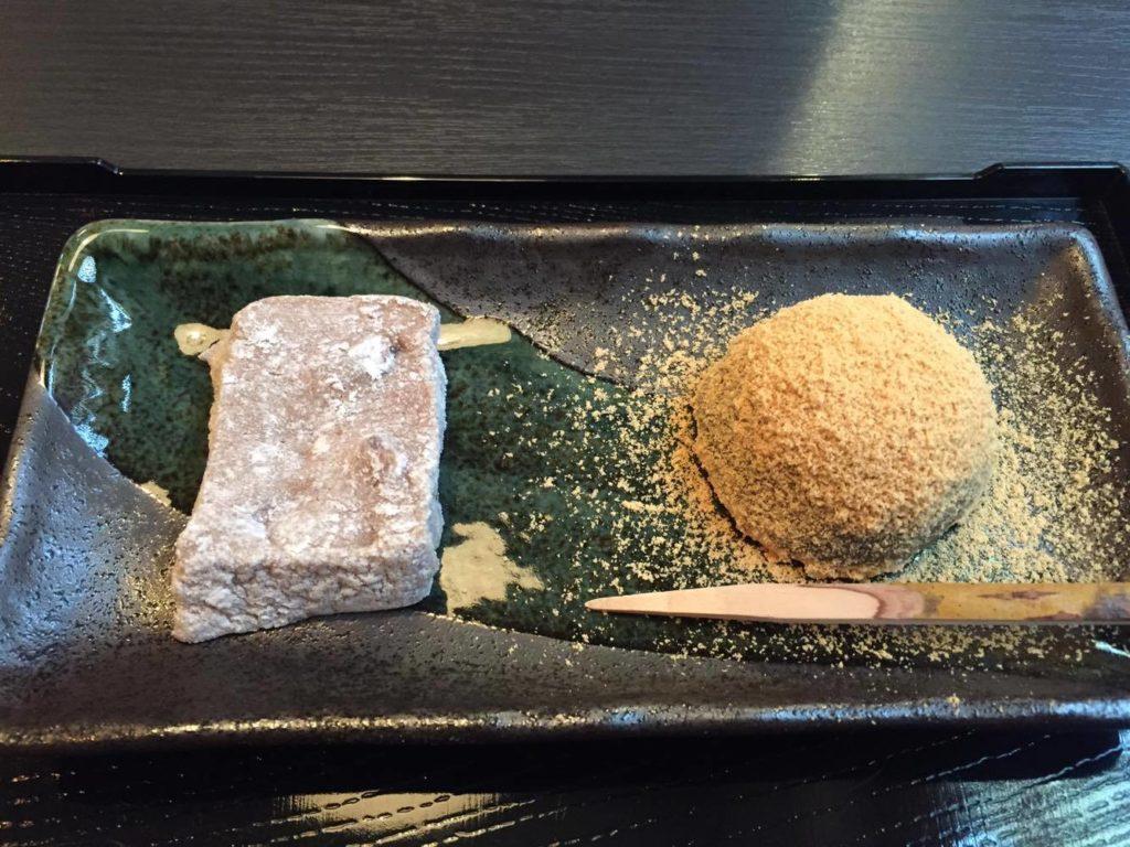 季節の和菓子二種