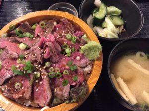 牛タタキ焼き丼