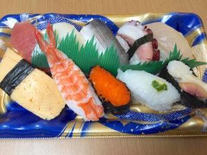 テイクアウトのお寿司