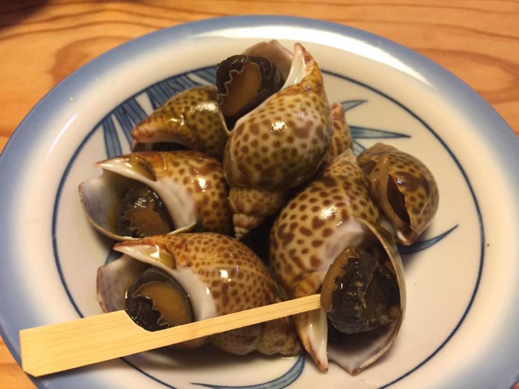 ばい貝の煮付け