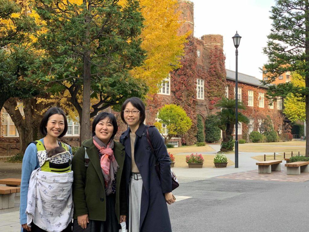 紅葉がきれいな立教大学のキャンパス