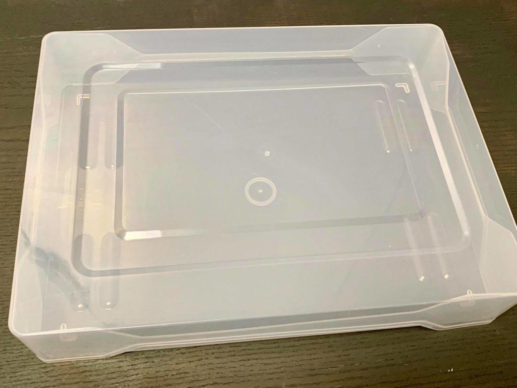 プラスチックのケースがあると便利