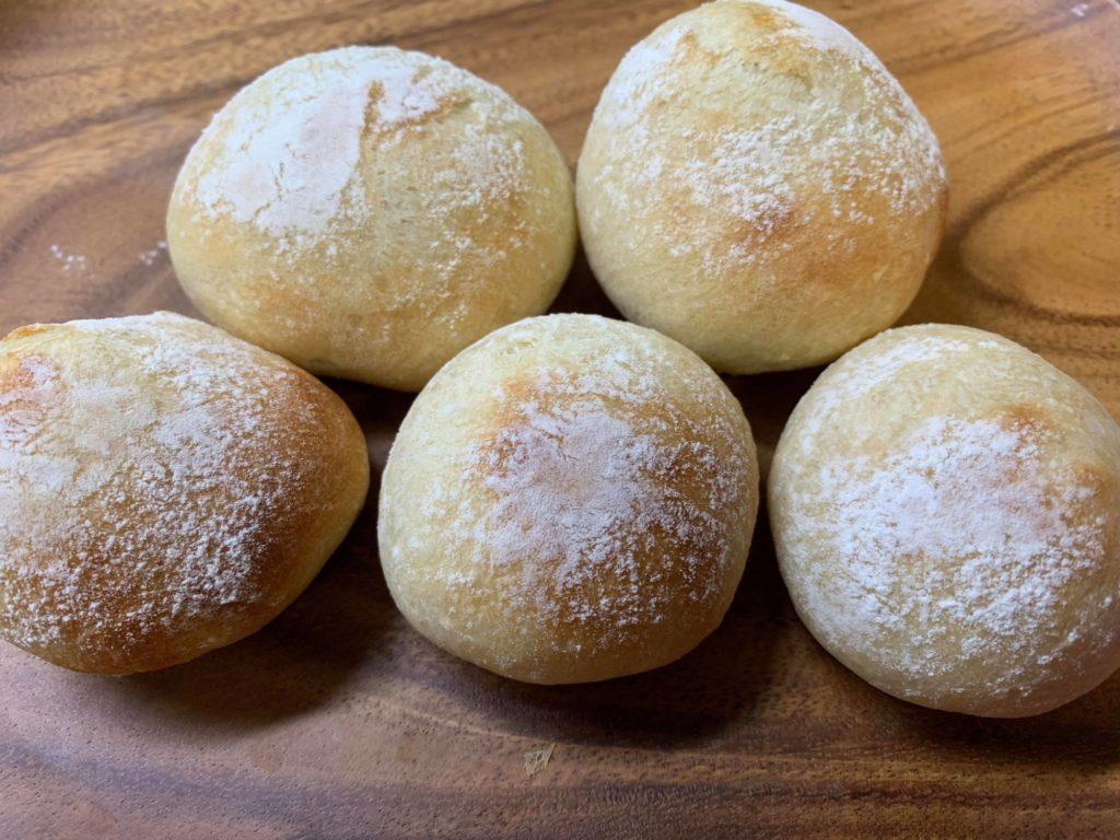 ポリパンで作った丸パン