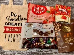 購入したチョコと袋