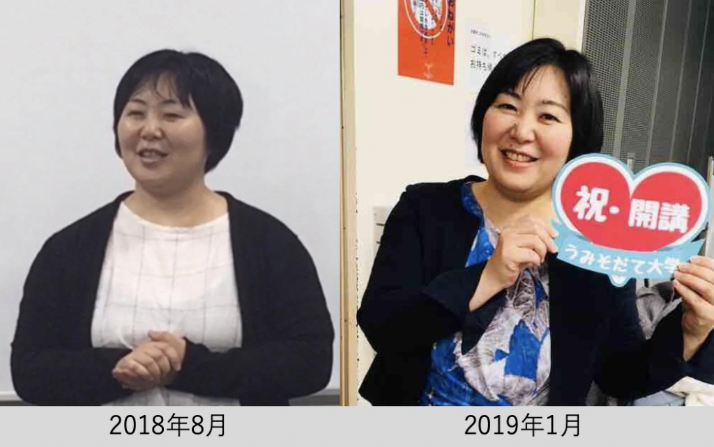 半年間の変化の画像