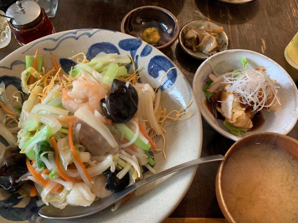 五目あんかけ焼麺定食