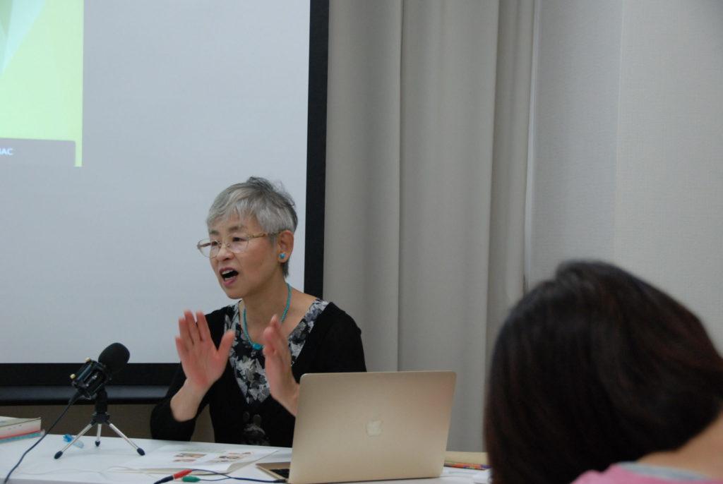 講師の岡本正子さん