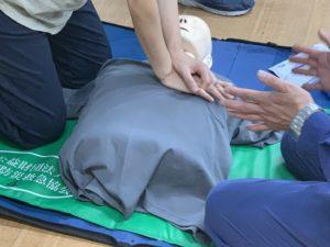 心肺蘇生の練習
